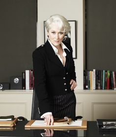 One of my favourite photos of Meryl Streep as Miranda Priestly in The Devil Wears Prada