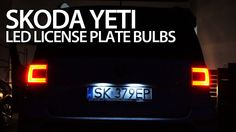 How to replace license plate #W5W bulbs in #Skoda #Yeti with #LED #VCDS #tuning #cars