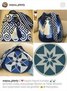 Crochet Crafts, Crochet Projects, Knit Crochet, Tapestry Crochet Patterns, Lace Patterns, Mochila Crochet, Tribal Bags, Tapestry Bag, Boho Bags