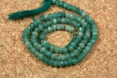 Light Green Emerald Rondelle Beads  Faceted Opaque by ABOSBeads, $36.99