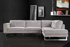 #Sectional #Sofa #modern $1799  leather microfiber, damask