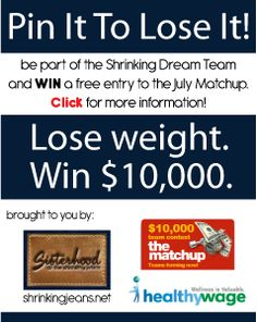 www.shrinkingjeans.net Healthy Wage July Matchup with the Sisterhood of the Shrinking Jeans #healthywage #weightloss #challenge @shrinkingjeans