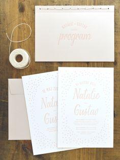 "Letterpressed wedding stationary ""Cirkus"". Design: Pretty Paper."