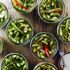 Ginger and Chile Pickled Green Beans - Great Green Bean Recipes - Sunset