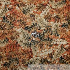 BonEful Fabric FQ Cotton Quilt Brown Green Leaf Tone Gold Metallic Red Orange L  #FabriQuilt Scrap Fabric Projects, Fabric Scraps, Cotton Quilts, Lazy, My Etsy Shop, Quilting, Metallic, Community, Orange