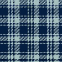 fall plaid || dusty blue and navy - happy camper wholecloth coordinate fabric fabric by littlearrowdesign on Spoonflower - custom fabric