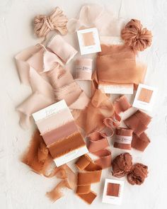 The Color Orange Sample Collection Tono + co Limited Edition 'The Color Orange' in Classic and Gossa Colour Schemes, Wedding Color Schemes, Wedding Colors, Colour Palettes, Composition Photo, Silk Ribbon, Silk Satin, Fall Wedding, Dress Wedding