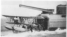 "British HMS ""M2"" submarine aircraft carrier, 1928. #8B"