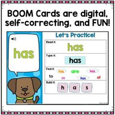 These Boom Cards for Kindergarten Fundations help your students learn the trick words presented throughout the units. They will have fun practicing their trick words in a digital form! You can use in the classroom or for distance learning! Wilson Reading, Kindergarten Units, Digital Form, Word Work, New Tricks, Student Learning, Task Cards, Classroom Organization, Phonics