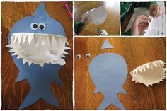 It's a paper shark for #sharkweek! Use Craft #GlueDots and Glue Lines to make this shark mess-free!