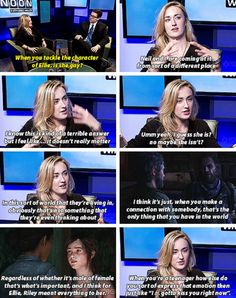 And this is why Ashley Johnson is so amazing. Because sexuality doesn't matter and shouldn't ever be called into question in the first place. This is a lovely moment. I wish everyone else in the world would see this too. It doesn't matter what and who we are, we are people, we are all here, and we are all the same. Our differences make us ourselves, but likewise, in the big picture, sexuality should just be brushed aside as easily as someone's hair or eye color -Will