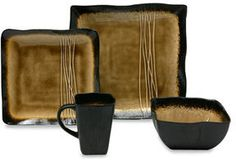 http://www.shopstyle.com: Galaxy Amber Square Dinnerware #PSDreamKitchen...maybe seems a lil more Asian in styling