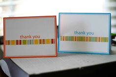 3 super easy, great ways to use scraps on a colored card base. Thanks Card, Thank You Note Cards, Card Making Tips, Making Ideas, Kids Cards, Baby Cards, Musical Cards, Scrapbook Cards, Scrapbooking