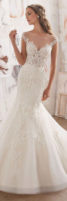 Featured Dress: Mori Lee; Wedding dress idea.