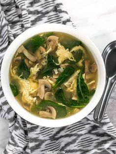 This fast and easy homemade egg drop soup is warm and soothing on cold days or when you're feeling under the weather. Comes together in under 30 minutes! BudgetBytes.com Homemade Egg Drop Soup, Growing Mushrooms, Organic Protein, Spinach Stuffed Chicken, Looks Yummy, Grow Your Own Food, Budget Meals, The Fresh