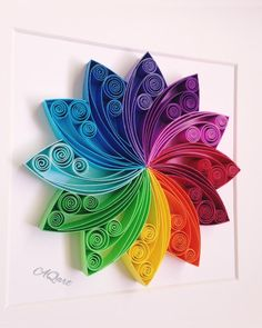 Redfield wall and standing frameRedfield wall and standing frameQuilling Art Rainbow Beauty- Quilled Mandala art, Paper Art-Unique Anniversary Gift-Wedding Gift-Rainbow Wall Art Love is all about quilling art - unique gift for anniversary, Neli Quilling, Paper Quilling Flowers, Paper Quilling Patterns, Quilled Paper Art, Quilling Paper Craft, Paper Crafting, Quilled Roses, Quilling Comb, Paper Art And Craft