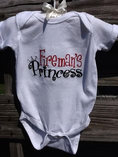 Custom Unique Boutique Embroidered Firefighter shirts or onsie for boys and… My Baby Girl, Our Baby, Firefighter Shirts, Firefighter Family, Cute Babies, Baby Kids, Diaper Bag, Baby Shirts, Personalized T Shirts