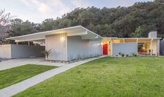 1 1954 post-and-beam midcentury home by architect David Lopez.
