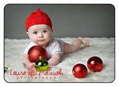 Sweet Baby B's first xmas! (god bless you, Laura Matoush! http://lauramatoushphotography.com/)