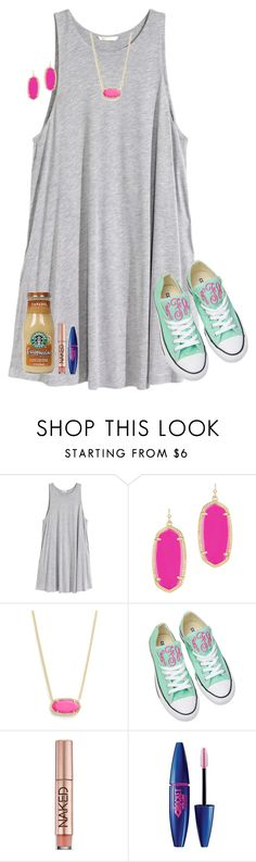 """""""Day 2: Last Day of School"""" by typical-lizzie ❤ liked on Polyvore featuring H&M, Kendra Scott, Converse, Urban Decay, Maybelline and schoolsoutmadiandashe"""