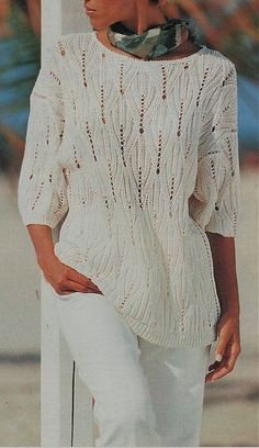 Knitting Stitches, Knitting Patterns Free, Hand Knitting, Free Pattern, Black White Pattern, Crochet Clothes, Knitting Projects, Knit Cardigan, Knitwear
