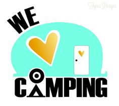 FREE Silhouette cut files for Camper decals- use as bumper stickers, on the window/ doors or even on the cooler!