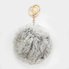 These things are Strex Pets and I will not be convinced otherwise. Large Rabbit Fur Pom Pom Keychain, Key Ring Bag Pendant Accessory - Silver