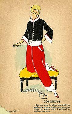 French Vintage Fashion Plates    Circa 1920