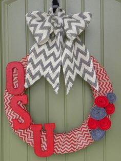 Hey, I found this really awesome Etsy listing at https://www.etsy.com/listing/162951491/the-ohio-state-university-wreath-for