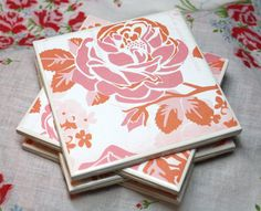 Hey, I found this really awesome Etsy listing at https://www.etsy.com/listing/180723050/rose-ceramic-coasters-set-of-4