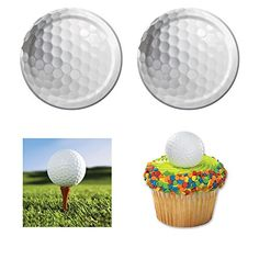 Golf Sports Fanatic Party supplies - 12-16 guests - cake plates and napkins plus cupcake rings *** You can find out more details at the link of the image.