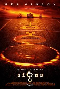 Signs - Directed by M. With Mel Gibson, Joaquin Phoenix, Rory Culkin, Abigail Breslin. A family living on a farm finds mysterious crop circles in their fields which suggests something more frightening to come. All Movies, Sci Fi Movies, Scary Movies, Great Movies, Movies To Watch, Movies Online, All Horror Movies, Amazing Movies, Movie Posters