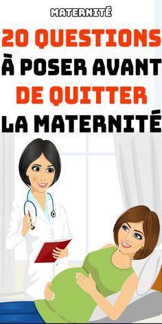 Ça y est ? Bientôt, vous quitterez la maternité ? Voici les 20 QUESTIONS À POSER AVANT DE QUITTER LA MATERNITÉ  #maternité#grossesse#enceinte #accouchement Futur Parents, Quitter, 20 Questions, Coin, Bb, Family Guy, French, Education, Lifestyle