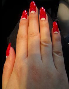 viciousbetty on tumblr nails retro pinup rockabilly nails red moons