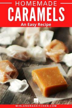 Easy Summer Desserts, Summer Dessert Recipes, Breakfast Recipes, Christmas Recipes, Holiday Recipes, Candy Recipes, Homemade Christmas, Cookie Recipes, Homemade Caramels