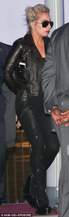 Killer footwear:Sticking to her typically fashion-forward vibe, Gaga added drama to her e...