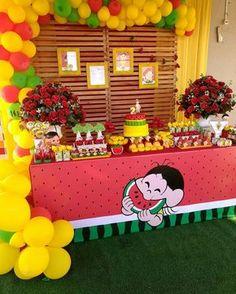 "1,121 curtidas, 25 comentários - Deisiane Teles (@horadeapagaravelinha) no Instagram: ""Que linda!!! Magali por @dreamworldfest #Magali #festamagali #turmadamonica #festainfantil…"" Watermelon Birthday Parties, Fruit Party, Birthday Party Themes, Malu, Baby Party, Alice, Party Supplies, Diy And Crafts, Instagram"
