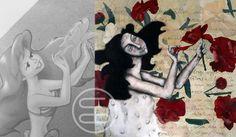 Inspiration comes from the strangest places. Painting 'October flowers' 🌺.   - Inspiratie komt vanuit de vreemste plekken. Schilderij 'oktoberbloemen'. |post by Anneke| #art #dutchart #painting #kunst #schilderij #inspiration #picasso #inspiratie #portrait #matisse #klimt
