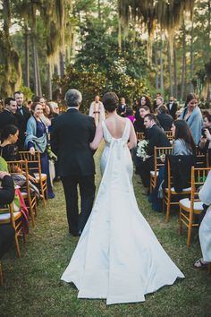 """My father walked me down the aisle to a sax solo of """"La Vie En Rose,"""" a beautiful contrast with the Gullah gospel choir that had greeted the guests."""