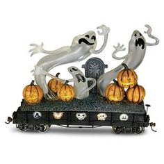 Hawthorne Village The Nightmare Before Christmas Train Car Haunting Ghosts