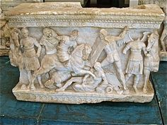 In ancient times the Celts became the symbol of barbarism and disorder. Battles against these Gallic warriors were featured in Etruscan tombs as early as the second century BC. In Ancient Times, Ancient Rome, Ancient History, Roman History, Mural Painting, Ancient Civilizations, North Africa, Archaeology, Old Things