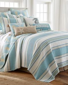 Kailua Striped Coastal Luxury Quilt Collection $16.99