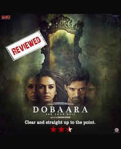 Movie review of 'Dobaara- See Your Evil' Clear and straight up to the point. http://bit.ly/2qIo5h3 #bollywood #moviereview #humaqureshi #saqibsaleem #dobaarseeyourevil