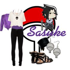 Uchiha Sasuke Casual Cosplay (not a huge fan of the necklace. but this is really fun. :) Love me my Sasuke)