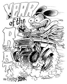 Rat Fink Poster Art Rat Finks Pinterest Rat Fink And Rats Rat Fink Coloring Pages