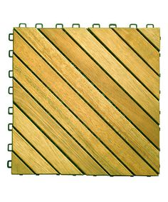 Another great find on #zulily! Acacia Diagonal-Slat Interlocking Deck Tile - Set of 12 #zulilyfinds