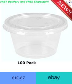 Benail 200 Sets 4 Ounce Disposable Portion Cups Souffle Cup With