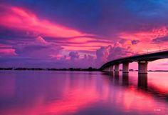ringling bridge, love sarasota sunsets!