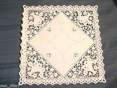 "8"" inch Square White Paper Lace Basket Doily Doilies Craft 25 Pcs USA Baking | eBay"