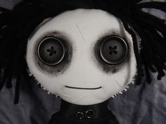 Edward Scissorhands Inspired Rag Doll MADE TO by TrailOfStitches
